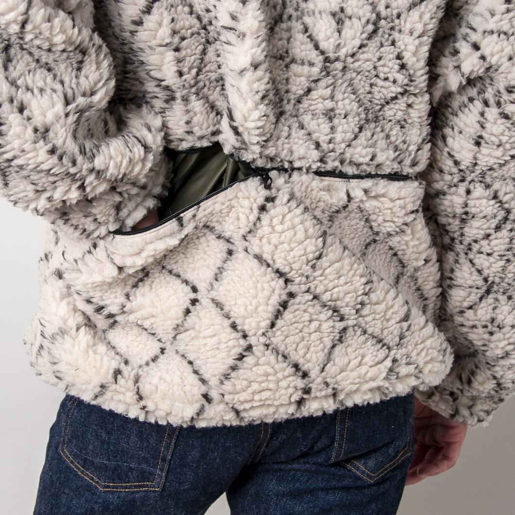 Do-Gi Sashiko Boa Fleece Reversible Blouson