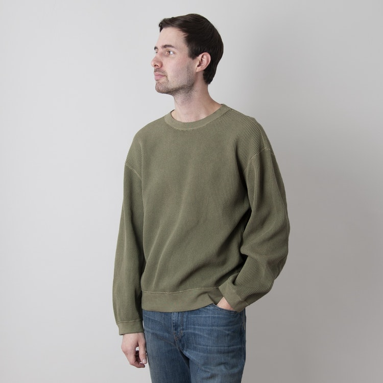 Eco Waffle Big Crew Sweatshirt