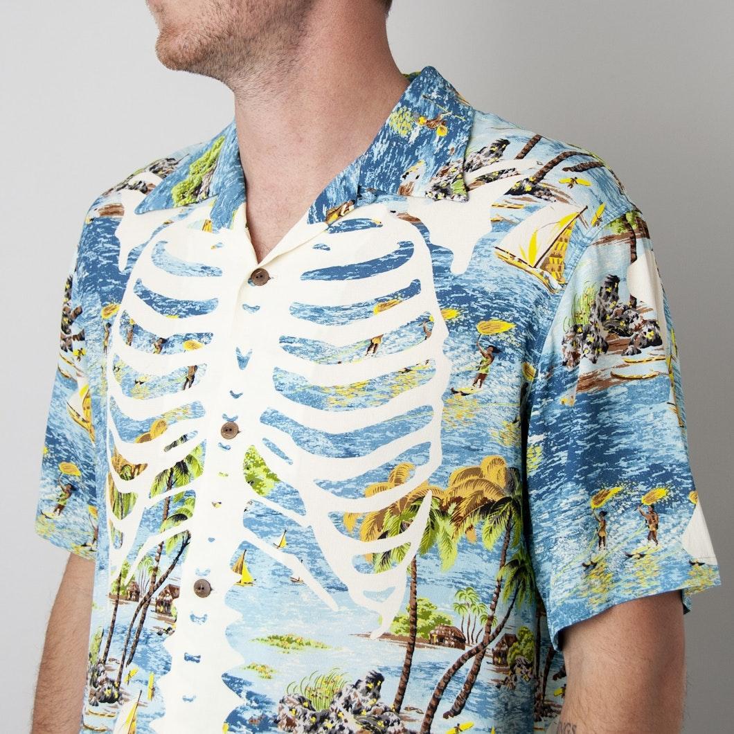 Kamekameha Bone Aloha Shirt