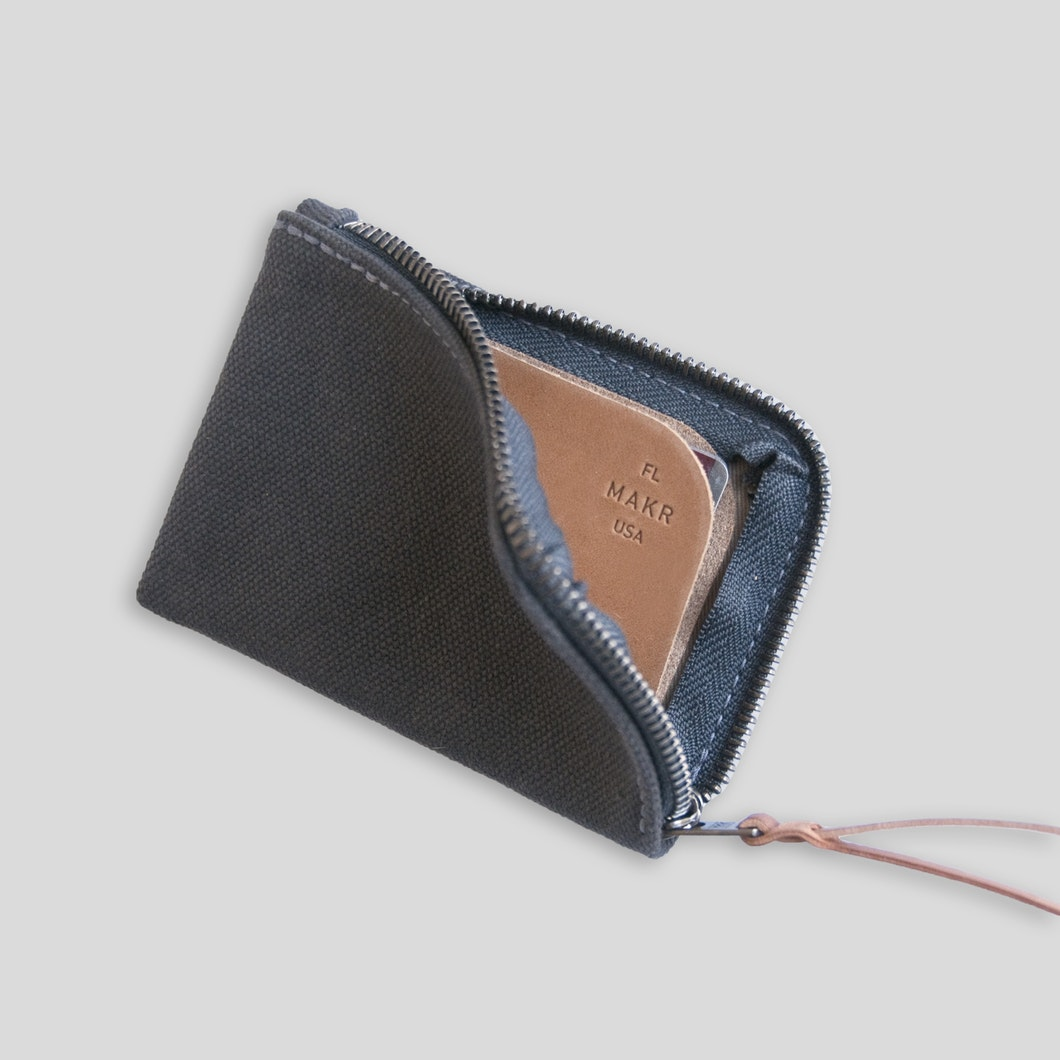 Canvas Zip Slim Wallet