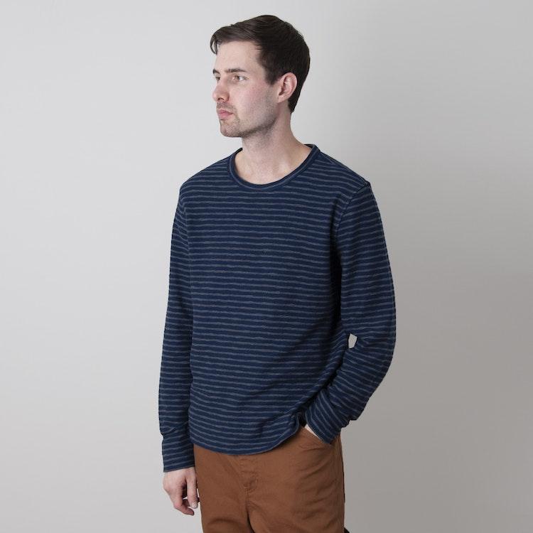 X Cotton Jersey Stripe Sweatshirt